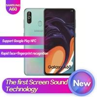 Samsung Galaxy A60 SM A6060 6,3 полный экран 2340*1080 Android 9,0 Восьмиядерный Поддержка NFC 32MP + 8MP + 5MP 3500 mAh лицо + сканер отпечатков пальцев