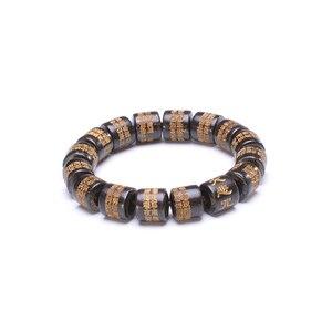 Image 3 - Seau de prière en ébène naturel perles Bracelets Protection de lincantation chapelet bouddhiste Yoga méditation Bracelet en bois pour hommes femmes
