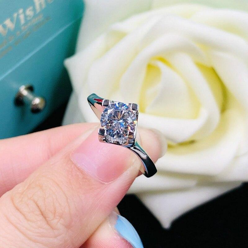 Home GroßZüGig Einfache 2ct Karat Ringe Aaaaa Hohe Qualität Nscd Cz Verlobung Ringe Für Frauen S925 Sterling Splitter Weiß Gold Farbe Schmuck