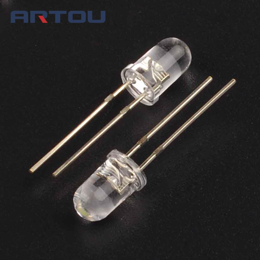 Water Clear Long Legs 3.0-3.2v 520-525nm 15000-18000mcd Light Emitting Diode Lamp A Great Variety Of Models Round 1000pcs F5 True Green Led Dip-2 5mm