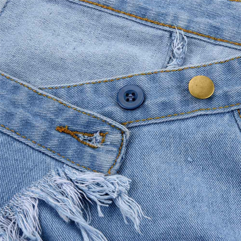 Fashion 2018 Summer style skirts womens Casual cowboy Mini High Waist Short Sexy Pockets Blue Denim Skirts Femme Saia Y04#N (2)