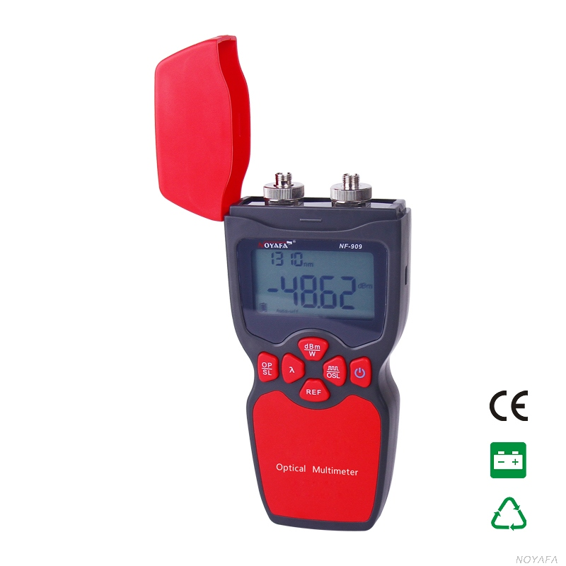 Noyafa NF-909 Optica Light Source Optical Fiber Tester Optical Power Meter Tester Visual Fault Locator Network Instrument 7 ip camera cctv tester poe wifi dm optical power meter visual fault locator tdr sdi ipc 8600movts