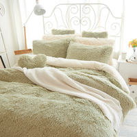 Фланелевые Короткие Плюшевые постельные принадлежности пододеяльник набор Бесплатная доставка текстильные постельные принадлежности дл