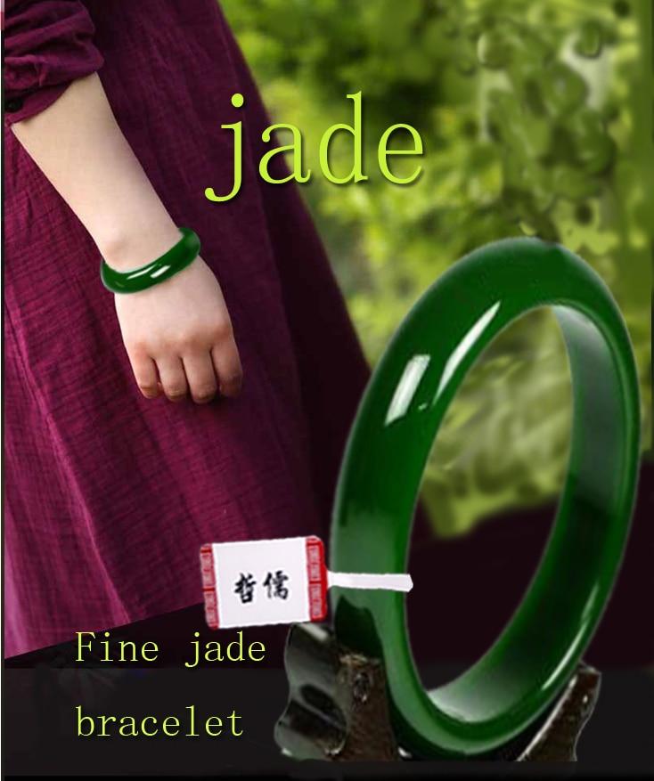 Fine Beauty Model Natural Jade Bracelet 54mm-62mm Pure Green Bracelet Jewelry Best GiftFine Beauty Model Natural Jade Bracelet 54mm-62mm Pure Green Bracelet Jewelry Best Gift