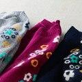 2016 Novo senhora Suéter de Cashmere em torno do pescoço Camisola de Lã lã de coelho veludo rodada-inferior Pullovers longo-sleeved Camisola