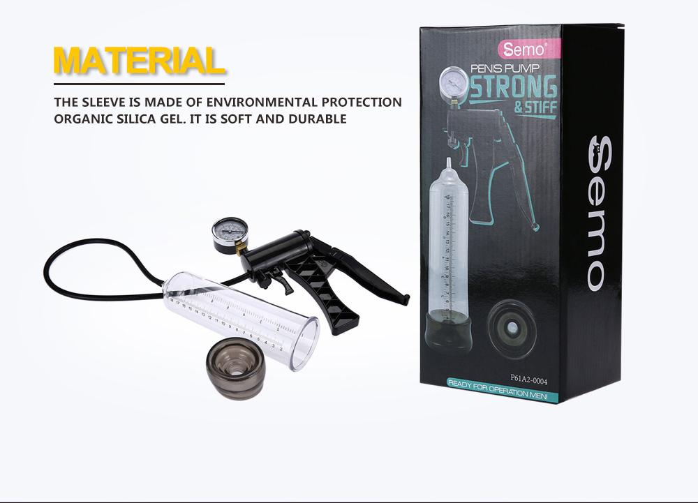 Semo P61B2 Hand-drive Penis Enlarge Pump Manual Operation Vacuum Adult Product for Men Sex Products 4
