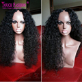 Hot Selling!! 180% Density Virgin Brazilian Afro Kinky Curly U Part Wig,Afro Curly U Part Wigs Human Hair For Sale Natural Color