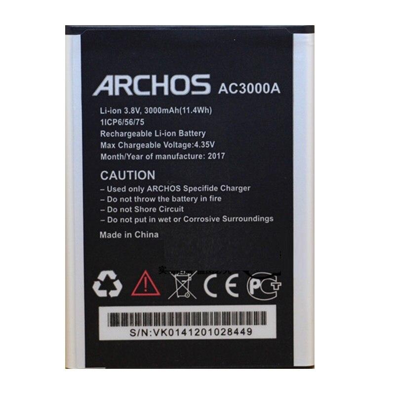 AC3000A Batterie pour Archos 45 Néon Mobile Téléphone Baterij Externe Nouveau Li-Ion Rechargeable Batteries Pack Remplacement + Code de Piste