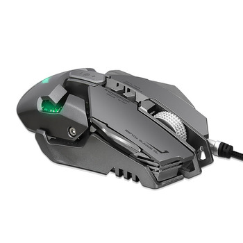 4000DPI Mechanical Wired Gaming Mouse 7 Buttons Optical Mice with LED Light for Computer Laptop Gamer Mouse เมาส์