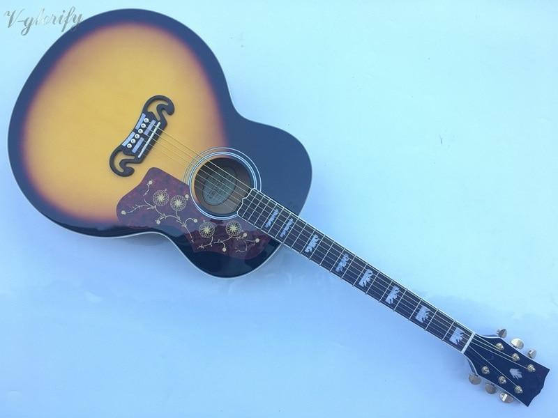 good quality j200 jumbo 42inch acoustic guitar цена