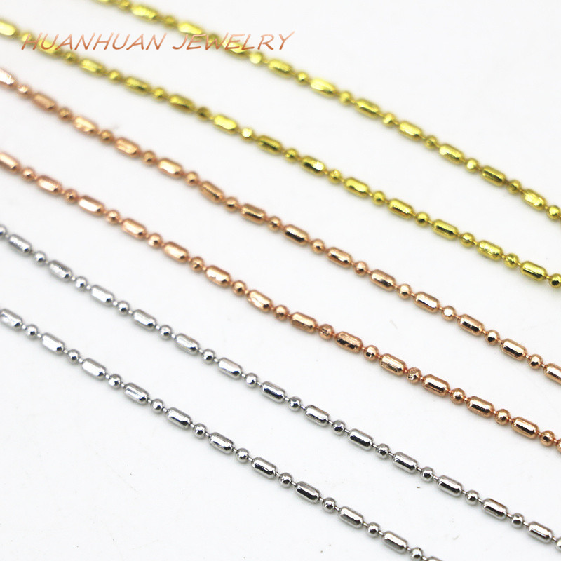 Wholesale Price 3 PCS Copper Stainless Steel Chain Necklace For Women Gifts Jewerly High Grade 1mm Chokers Chains 18inch B3385