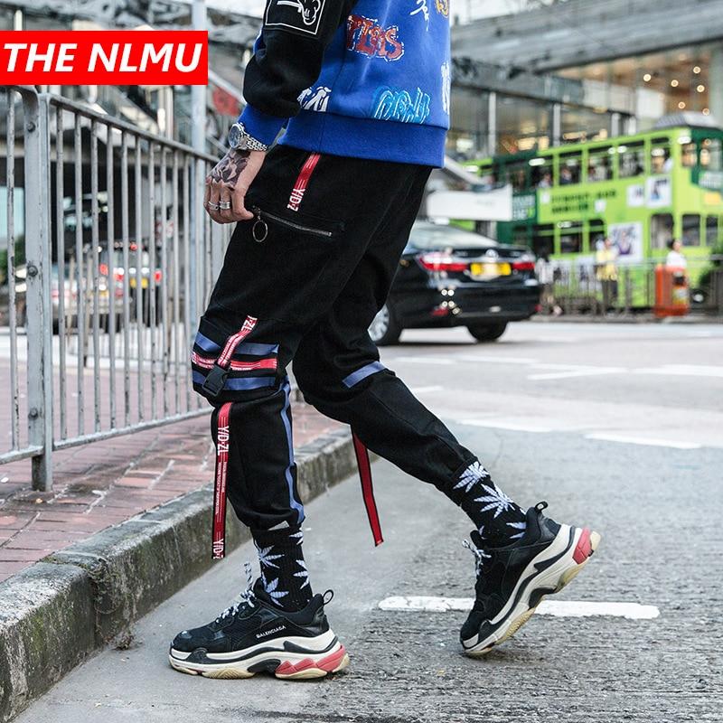 Herrenbekleidung & Zubehör Bänder Schwarz Jogger Hosen Männer 2019 Frühling Hip Hop Casual Jogginghose Hose Herren Hosen Streetwear Uns Größe Gw025 Enge Hosen