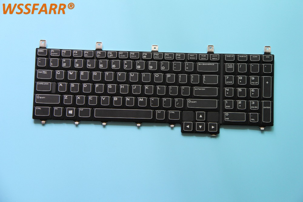 for Dell Alienware M17X R3 keyboard PK130MK1B00 NSK D8G01 DP/N: 08GWD6 black US backlight