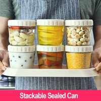 3 Pcs 260ml Glass Sealed Cans Set Food Bottle Preservation Storage Containers Jars Kitchen Suppliers