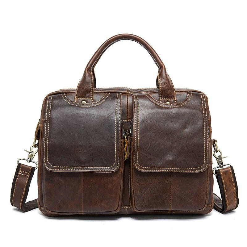 4df37a10239c Qiaobao Топ Класс ручной Мужские настоящий Crazy Horse кожаный портфель  Винтаж Стиль бизнес-ноутбук сумка | Портфели с Алиэкспресс | Отзывы  покупателей