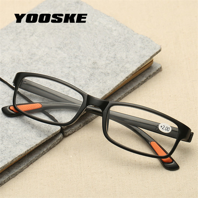 4c86c9df38 YOOSKE mujeres hombres gafas de lectura dureza TR90 de la luz  ultra-Material de resina