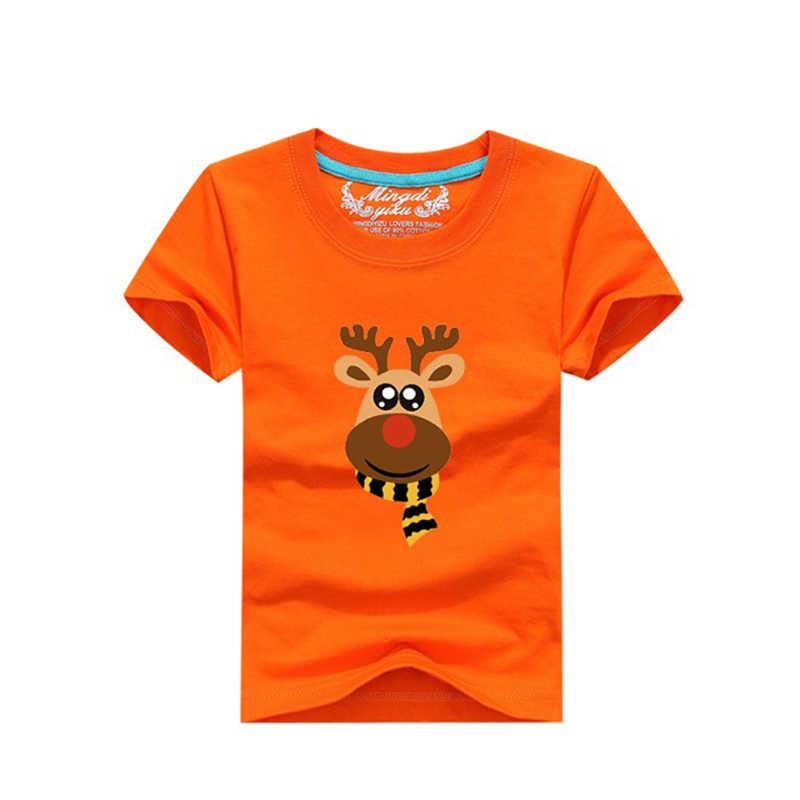 09393edd01 2019 Baby Boys Girls T shirts Christmas Milu Deer Kids Clothes Christmas  Clothing Summer T shirt 100%Cotton Children Clothing