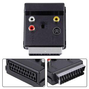 20 Pin SCART штекер для 3 RCA Женский S-Video Аудио Видео адаптер кабель штекер SCART для 3RCA Jack S видео AV ТВ конвертер