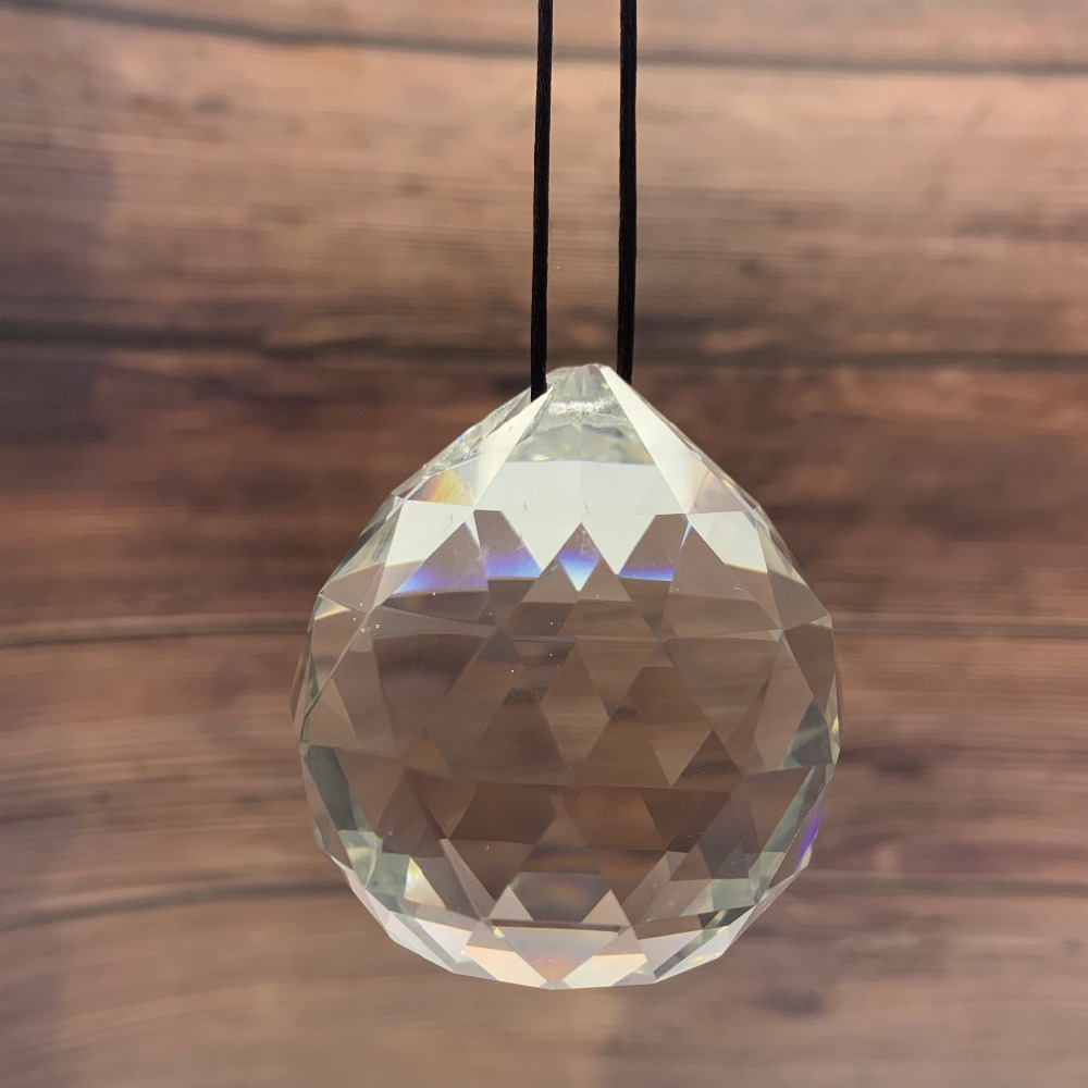 40MM Feng Shui Hanging Facted Crystal Ball Prisms Glass Chandelier Parts Suncatcher Pendant DIY Hanging Ornament