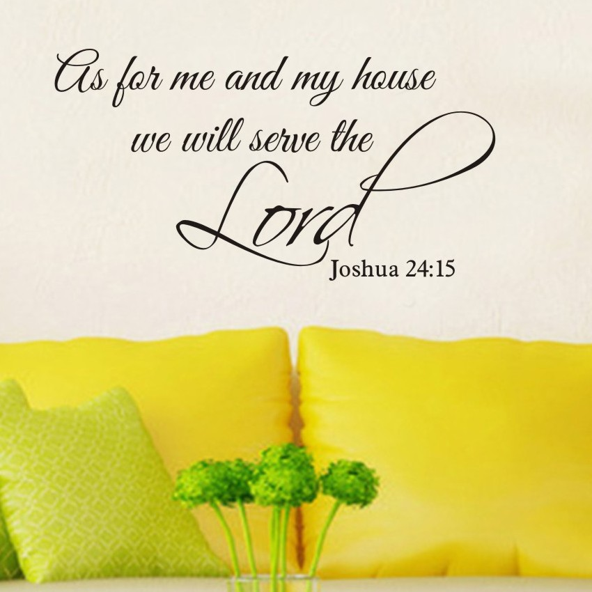 As for me and my house,we will serve the Lord Vinyl Bible Verse ...