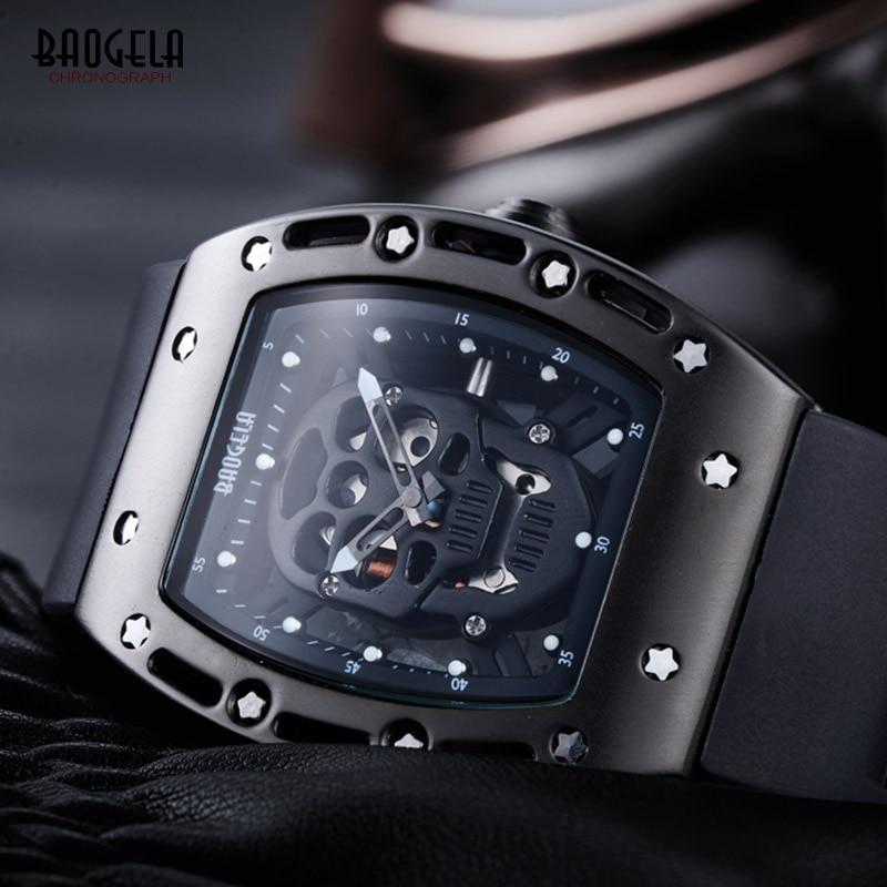 Baogela Mens Silicone Analogue Quartz Ժամացույցներ - Տղամարդկանց ժամացույցներ - Լուսանկար 4