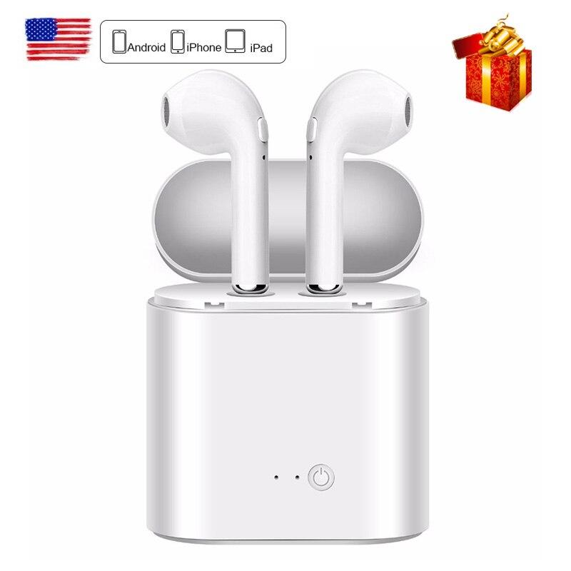 DFOI Drahtlose Kopfhörer Bluetooth Sport Kopfhörer mini i7s tws Kopfhörer cordless Headset mit mic Kopfhörer Für Telefon Xiaomi X