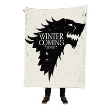 Custom Game of Thrones Blanket Manta Falafel Blanket Sofa/Bed/Plane Travel Bedding 150X200CM Dropshipping(China)