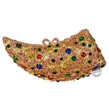 Neue design kupplung taschen luxury diamante frauen abendtaschen Rhino horn gold partei geldbörse mit kette damen tageskupplungen SC222