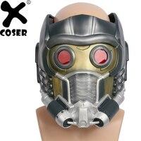 XCOSER Звездный лорд маска фильм стражи Галактики Косплэй маски Для мужчин Прохладный шлем с светящиеся очки ПВХ Косплэй реквизит горячее пре