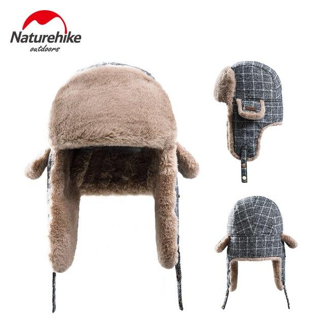bfa315e1a7d Naturehike Outdoor Camping Cap Warm Bomber Pilot Aviator Trapper Skiing Hat  Winter Mask Headgear with Face