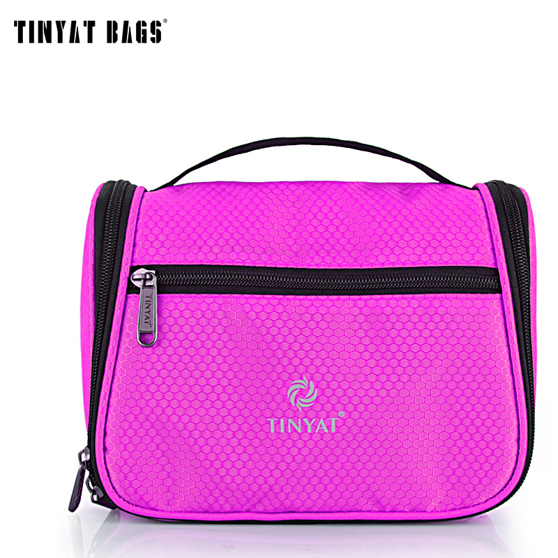 TINYAT Women Cute Color Makeup Cosmetic Bag Easy Carry Compact Travel Wash Bag Waterresistant Toiletries Bag