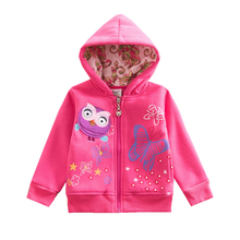 VIKITA Girls Coats and Jackets Girls Hooded Outerwear Children Cartoon Jackets Kids Warm Autumn and Winter Coats with Zipper cheap Casual COTTON Animal REGULAR O-Neck Outerwear Coats Full Fits true to size take your normal size Worsted W502 boys jackets