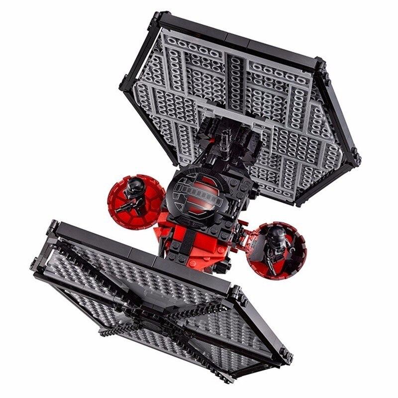 562 шт. Diy Модель спецназ TIE Fighter Звездные войны Block Кирпичи подарок Совместимость с L бренда игрушек для детей