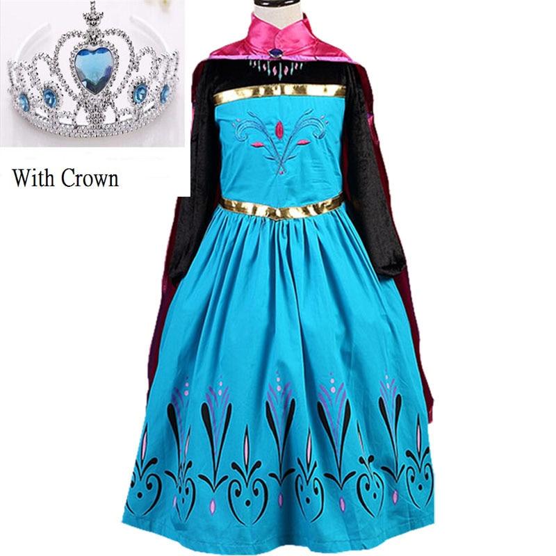 buy 2016 new girls dress elsa dress custom cosplay summer anna girls dresses. Black Bedroom Furniture Sets. Home Design Ideas