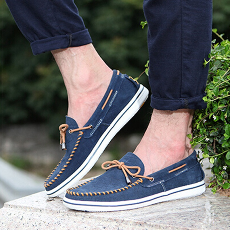 ФОТО New Design Men Casual Shoes Comfy Boat Shoes Breathable Driving Walking Flats Soft Moccasins Male Sapato Masculino