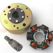 Статор Магнето AC 6 полюс с маховиком съемник для скутера GY6 125CC 150CC мопед
