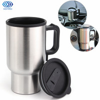 Car Hot Kettle 450ml Vehicle Mounted Thermal Travel Cup Handy Cup Thermostat Bottle Coffee Heated Mug