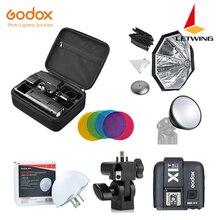 Godox 2.4 TTL HSS deux têtes AD200 Flash + X1T-C/X1T-N/X1T-S pour Canon + Kit de réflecteur Softbox