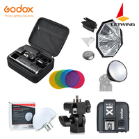Godox 2.4 TTL HSS Two Heads AD200 Flash+X1T C/X1T N/X1T S For Canon+Softbox Reflector Kit