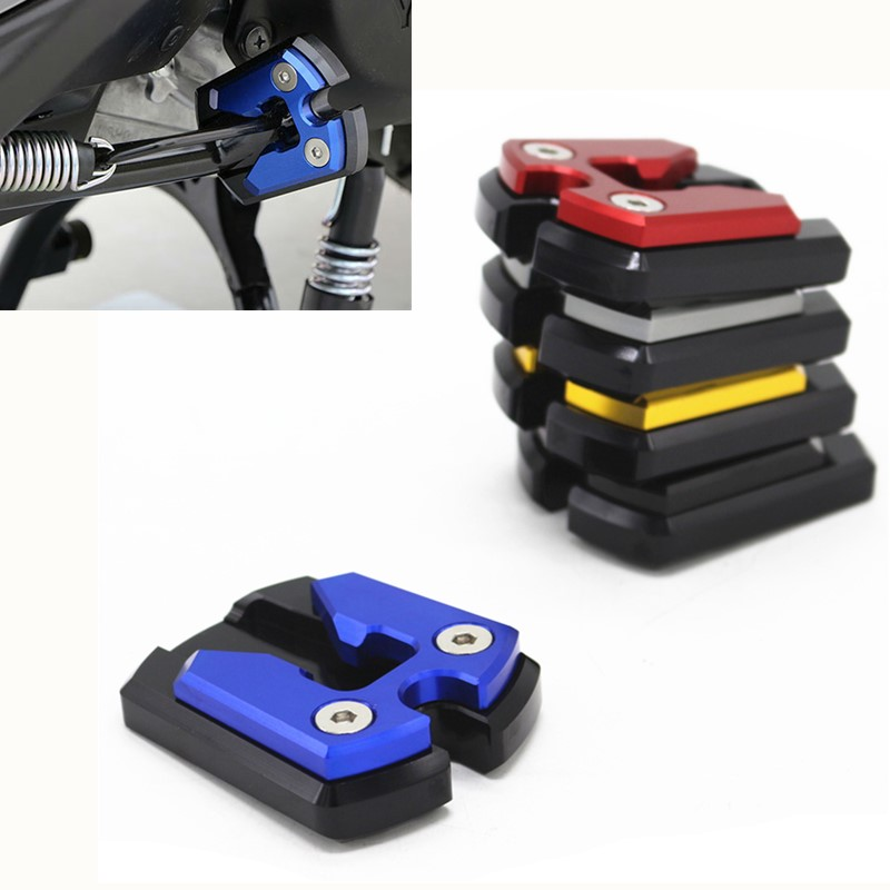 Modified Motorcycle CNC Flat Foot Extension sidestand Kickstand Pad Plat For <font><b>YAMAHA</b></font> <font><b>NMAX</b></font> 155 2015-2016 N-MAX <font><b>125</b></font> <font><b>Nmax</b></font> 150 <font><b>nmax</b></font> image