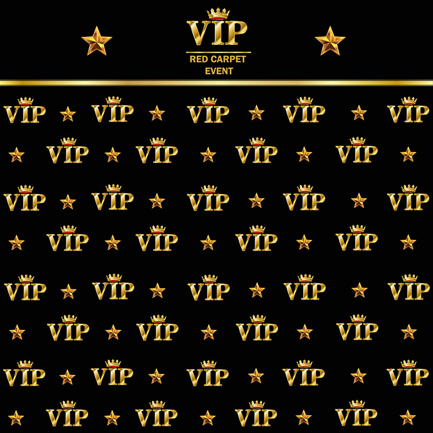 Royal Crown Black Hollywood Vip Banner Backdrop Birthday Adults Children Party Wedding Custom Luxury Background Photo Studio hollywood banner backdrop high quality vinyl cloth computer printed party wedding backdrop photography studio background