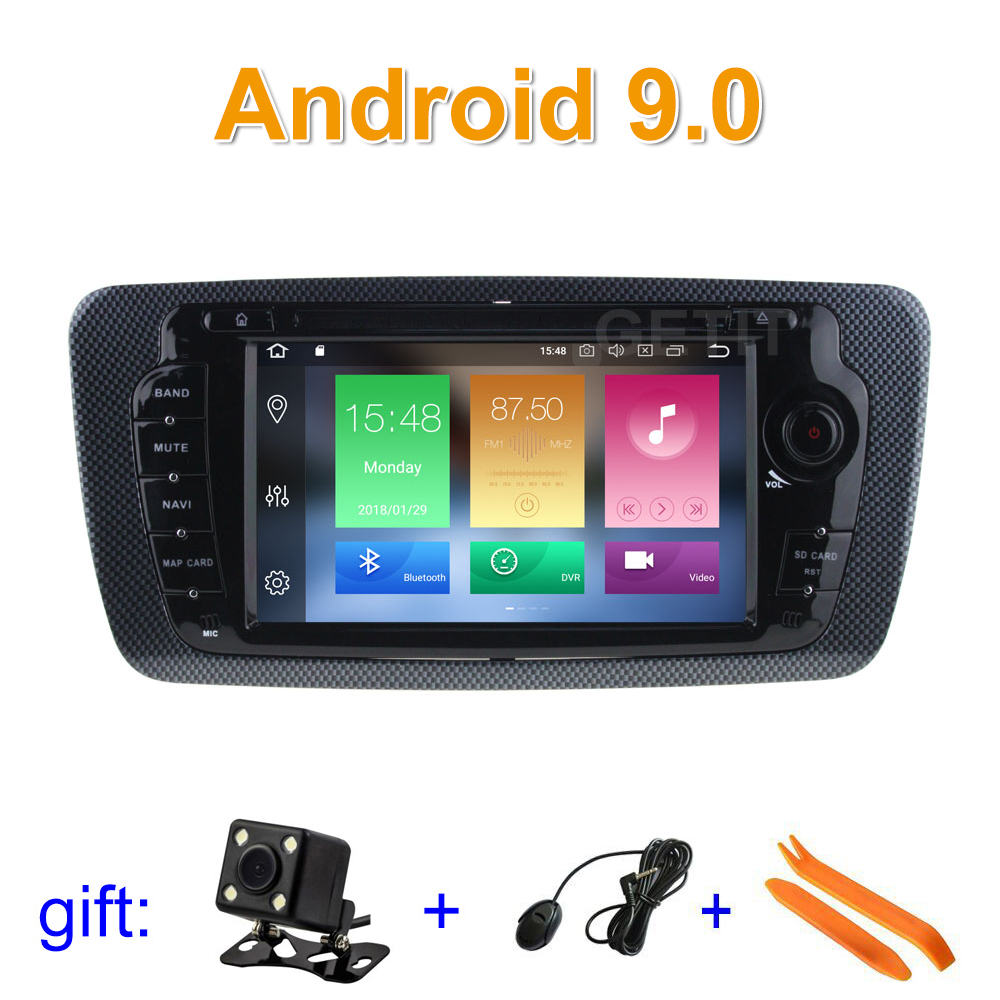 Android 9 Car DVD Player Radio GPS for Seat Ibiza 2009 2013 with WiFi BT Stereo