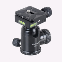 XILETU FB 0 Aluminum Tripod Ball Head Ballhead Quick Release Plate Pro Camera Tripod Max load to 15kg