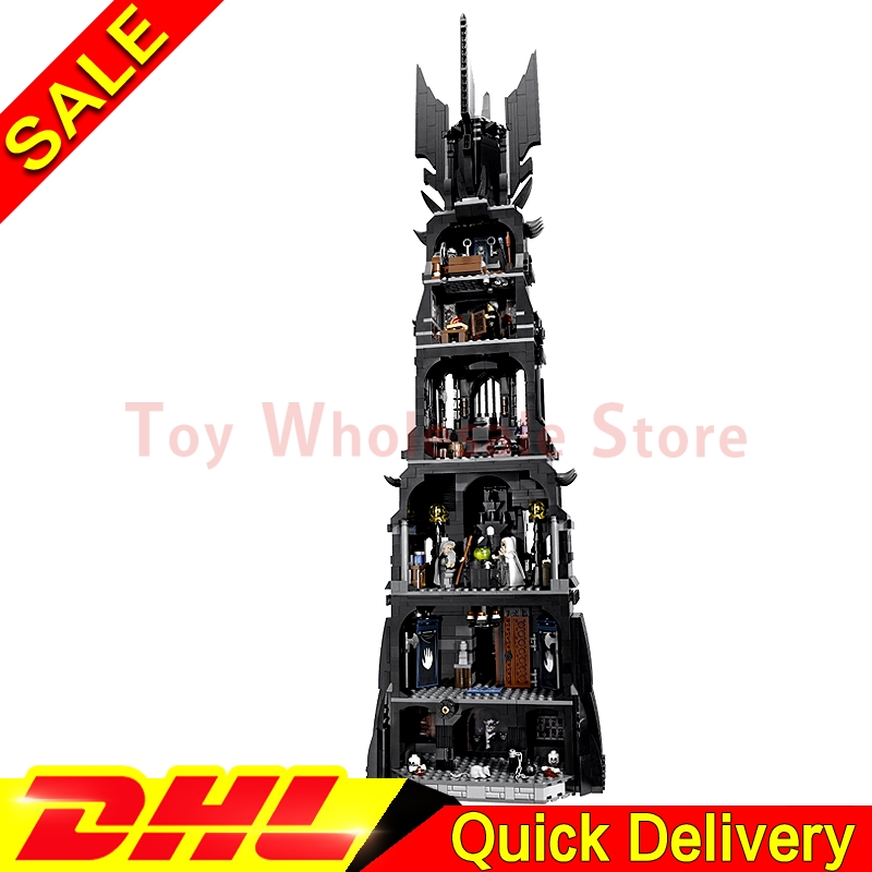 LEPIN 16010 2430Pcs Lord of the Rings The Tower of Orthanc Model Building Kits Set Blocks Bricks le[ins Toys Gift Clone 10237 hot sale the hobbit lord of the rings mordor orc uruk hai aragorn rohan mirkwood elf building blocks bricks children gift toys