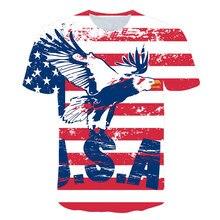 цена на 2019 New USA Flag T-shirt Men/Women Sexy 3d Tshirt Print Striped American Flag Men T Shirt Summer Tops Tees Plus 4XL 5XL