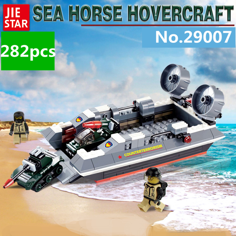 Sea Horse Hovercraft 282pcs SWAT Series Building Blocks Sets Bricks Toys for Children автозапчасть sea horse 323 1 8
