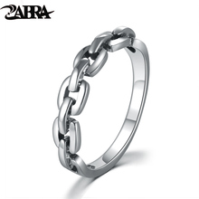 ZABRA Solid Pure 925 Sterling Silver Rings For Women Men Steampunk Vintage Retro Engagement Gift Lover Anniversary Finger Ring