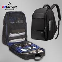 BOPAI Nylon Men Backpack Travel Bag Waterproof Large 17 Inch Laptop Backpack Bag Black Male Travel Backpack 40l usb Rucksack Men