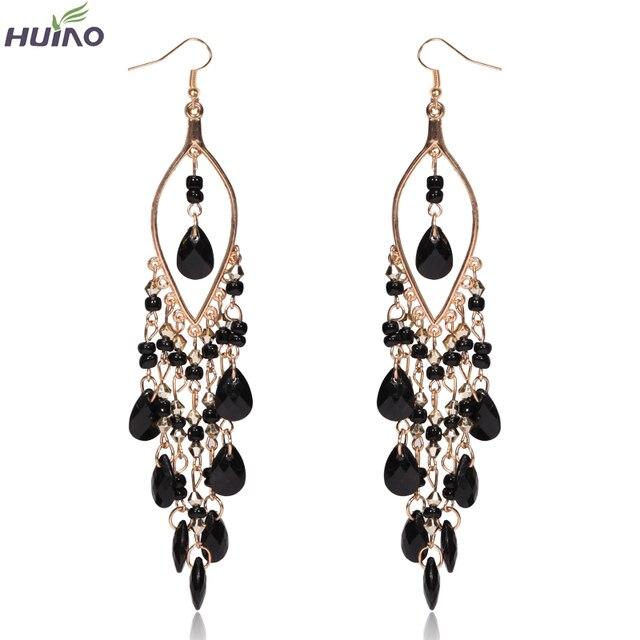 Earings Promotion Direct Selling Women Brincos Sterling Jewelry 2015 Newest Arrival Peacock Shape Long Tassel Drop Earrings