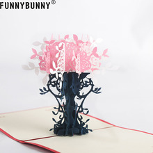 FUNNYBUNNY Flower 3D Pop up Greeting Cards Bouquet with Charming Details Perfect Handmade Gifts for your Lovers